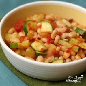 Тушеная фасоль с овощами - фото шаг 4