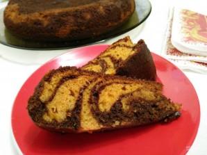Дрожжевой кекс «Зебра» - фото шаг 10