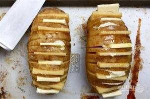 Картофельный веер с сыром - фото шаг 6