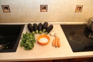 Синенькие с морковкой и чесноком - фото шаг 1