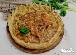 Пирог с сыром и зеленью - фото шаг 10