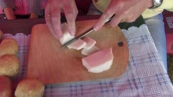 Шашлык из картофеля с салом - фото шаг 2