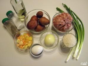Суп с фрикадельками и рисом - фото шаг 1