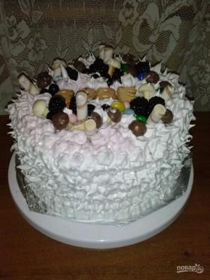 Большой бисквитный торт с безе - фото шаг 14