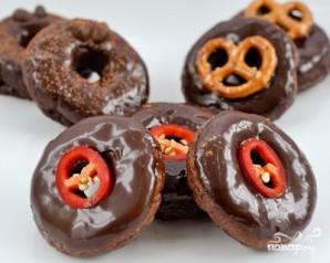 Шоколадные пончики - фото шаг 7