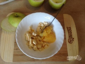 Яблоки, запеченные с джемом и бананом - фото шаг 3