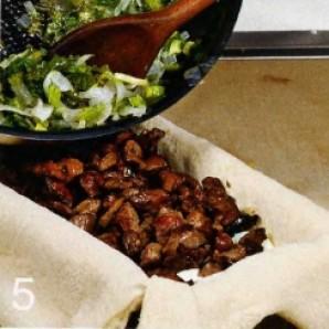 Пирог с куриными потрошками - фото шаг 5