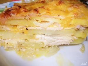 Картошка с мясом и сыром в духовке - фото шаг 7