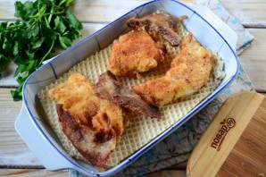 Вафельная лазанья с курицей - фото шаг 5