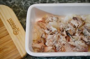 Пирог с рыбой и луком в горчичном соусе - фото шаг 7