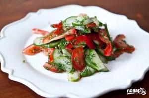 Салат из свежих овощей - фото шаг 7