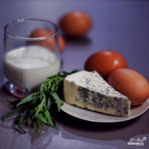 Омлет с голубым сыром - фото шаг 1