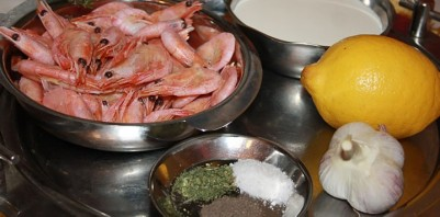 Креветки под сливочным соусом - фото шаг 1