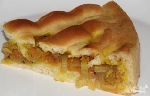 Постный дрожжевой пирог - фото шаг 13