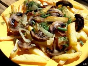 Картофель с грибами на сковороде - фото шаг 9