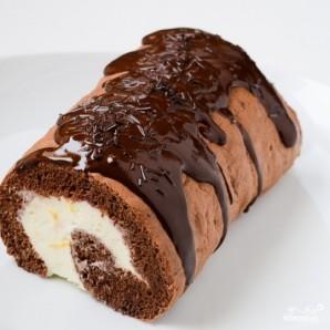Шоколадный рулет - фото шаг 15