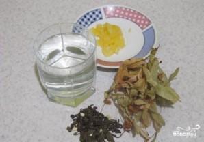 Зеленый чай с липой - фото шаг 1