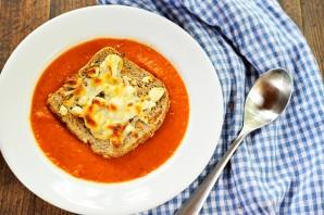 Томатный суп с базиликом - фото шаг 8