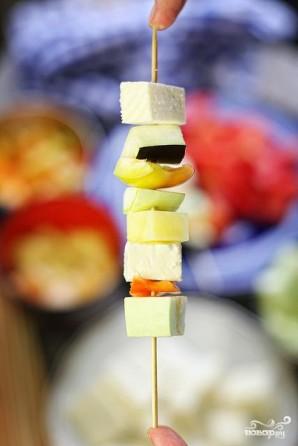 Овощной шашлык в кляре - фото шаг 6