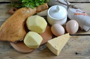 Салат с картофельной стружкой - фото шаг 1