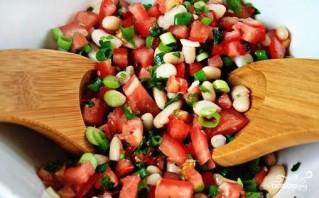 Салат из белой консервированной фасоли - фото шаг 5
