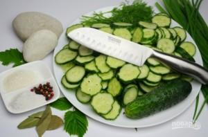 Салат из огурцов и лука на зиму - фото шаг 2
