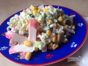 Салат с крабовыми палочками и пекинской капустой - фото шаг 6