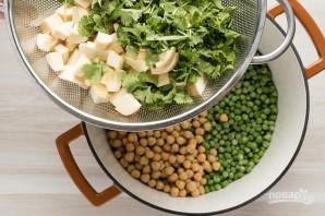 Суп-пюре из горошка и нута - фото шаг 5