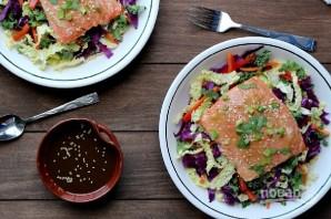Салат с лососем - фото шаг 5