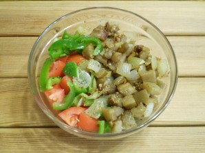 Салат из баклажанов и болгарского перца - фото шаг 4