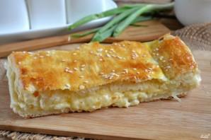Пирог из слоеного теста с сыром - фото шаг 6