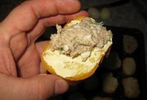 Бутерброды с сайрой и яйцом - фото шаг 12