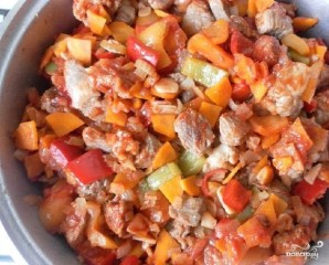 Рагу из свинины с овощами - фото шаг 5