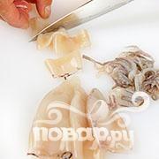 Хрустящие кальмары с рисом - фото шаг 3