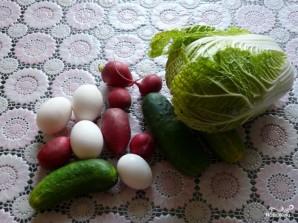 Салат из пекинской капусты - фото шаг 1