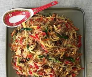Китайский салат с фунчозой - фото шаг 6
