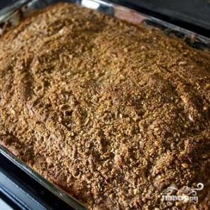 Пирог с корицей и ореховой посыпкой - фото шаг 8