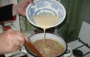 Суп с сосиской и яйцом - фото шаг 7