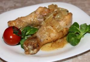 Куриная голень на сковороде - фото шаг 5