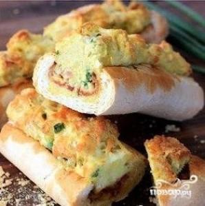 Запеченный багет на завтрак - фото шаг 10