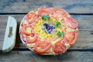"Овощная пицца ""Солнышко"" - фото шаг 5"