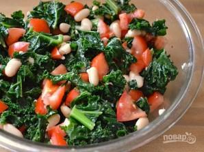 Салат с белой фасолью консервированной - фото шаг 6