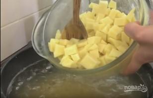 Очень вкусный гороховый суп с копчеными ребрышками - фото шаг 6