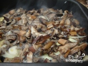 Картофель с грибами в духовке - фото шаг 7