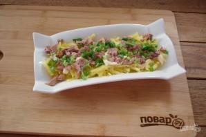 Салат из печени трески с яблоками - фото шаг 3