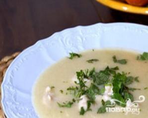 Картофельный суп-пюре с сельдереем и куриными клецками - фото шаг 6