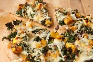 Пицца со сквошем и капустой кале - фото шаг 3