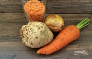 Суп-пюре из красной чечевицы - фото шаг 1