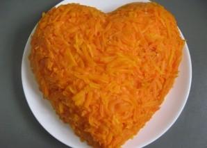 Салат в виде сердца - фото шаг 8