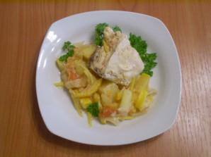 Курица, тушеная с овощами в сметане - фото шаг 6